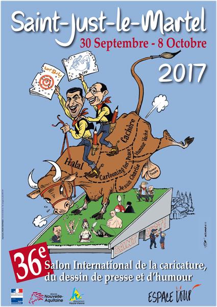 Caricature et Dessin de Presse en Corrèze - Salon international St Just le Martel