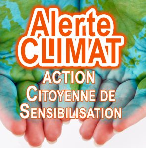 Action de sensibilisation citoyenne au réchauffement climatique