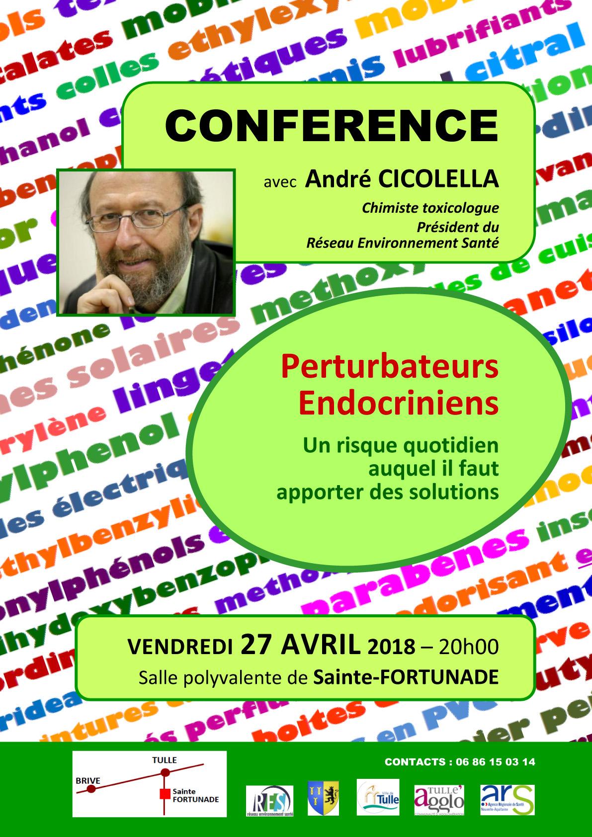 Conférence perturbateurs endocriniens Ste Fortunade André Cicolella