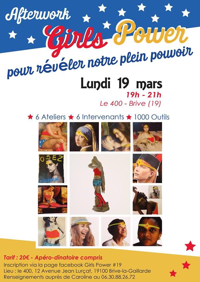 """Ateliers """"Girls Power"""" au 400 - soirée apéro dinatoire afterwork @ Le 400"""