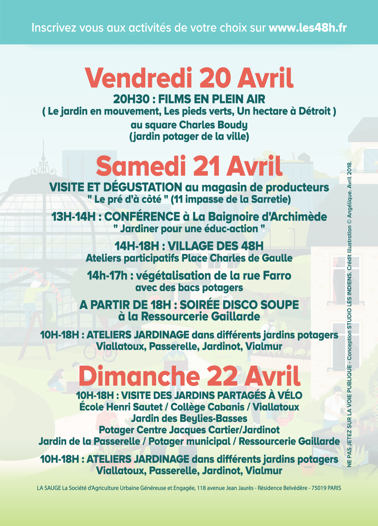 Seconde journée des 48h de l'agriculture urbaine à Brive @ Divers endroits de la ville de Brive