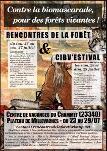 Rencontres de la forêt et CIBVestival à Faux-la-Montagne (23340)