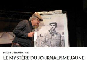 """Conférence gesticulée """"le mystère du journalisme jaune"""" Tulle @ Médiathèque deTulle"""