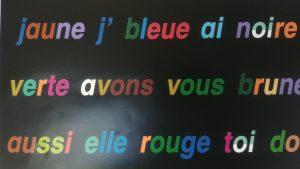 Mots en couleurs méthode Gattegno Corrèze