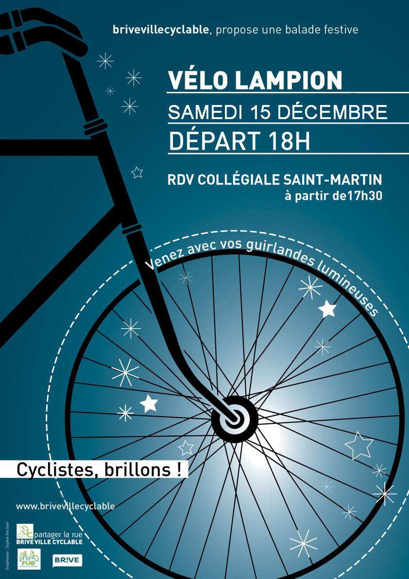 Brive vélo lampions samedi 15 décembre