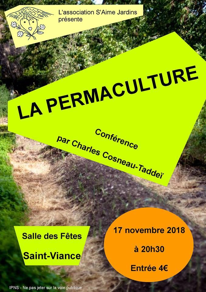 Conférence permaculture S'aime Jardins Saint Viance
