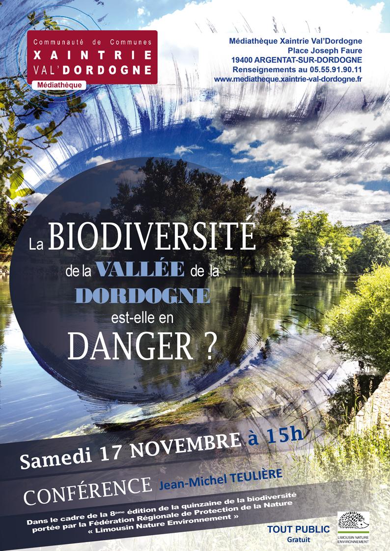 Conférence Biodiversité de la Dordogne - Jean-Michel Teulière