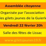 Assemblée citoyenne ce vendredi soir à Lissac