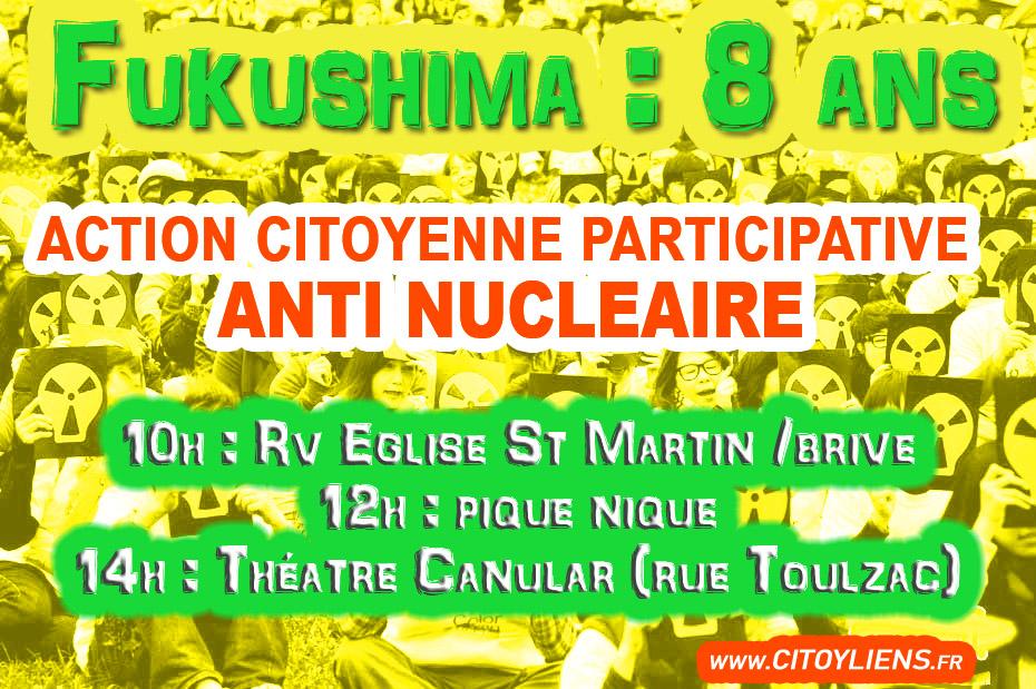Participez  à l'action ANTI NUCLEAIRE de rue à BRIVE