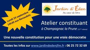 Atelier constituant, 11ème séance @ Champagnac la Prune