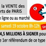 """Signer contre la vente """" aéroports de Paris"""" : stand au marché de Brive (ou en ligne)"""