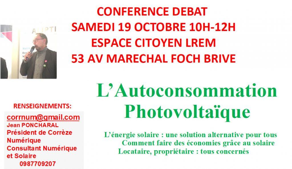 Conférence débat sur l'autoconsommation photovoltaïque