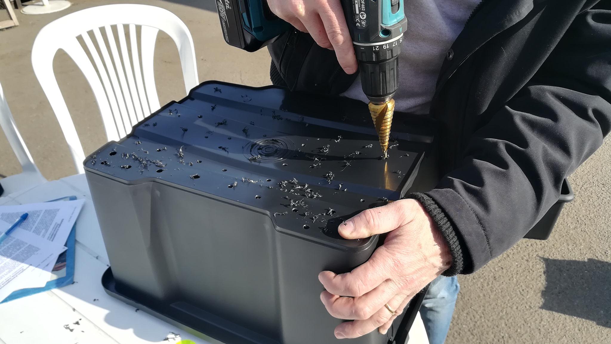 Atelier Compost et montage d'un lombricomposteur @ A tout venant-Ressourcerie gaillarde