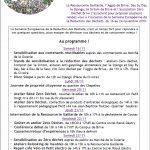 Suite programme 2019 de la Semaine Européenne de la Réduction des déchets
