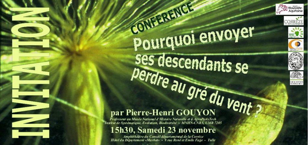 Conférence: Pourquoi envoyer ses descendants se perdre au gré du vent ? @ Amphi du Conseil Départemental de la Corrèze