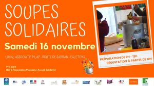 Egletons : Soupes solidaires @ Local associatif MLAP