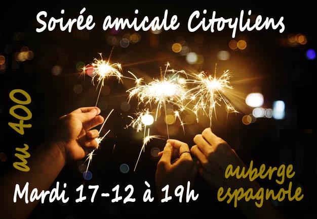 Soirée Citoyliens «au 400» : MARDI 17 décembre à 19h