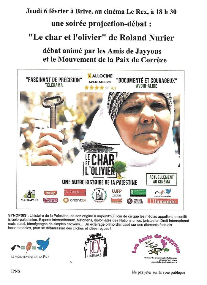 """Soirée projection-débat : """"Le char et l'olivier"""" @ Cinéma Rex"""