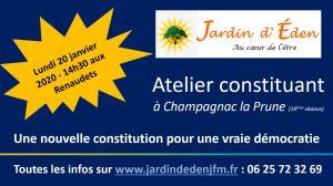 Ecrire une nouvelle constitution @ Jardin d'Eden