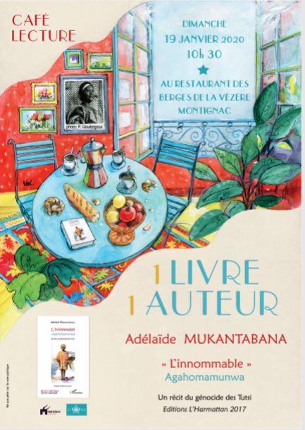 CAFE–LECTURE : 1 Livre, 1 Auteur @ Place Tourny 24290 Montignac-Lascaux