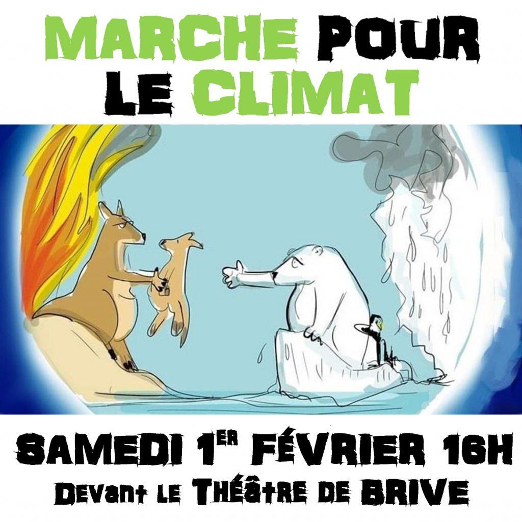 MARCHE POUR LE CLIMAT A BRIVE @ Devant le théâtre de Brive la gaillarde
