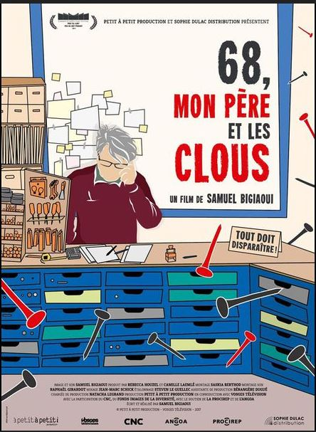 """Projection-débat du film : """" 68, mon père et les clous » de Samuel Bigiaoui @ Cinéma Louis Jouvet"""