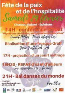 Fête de la paix et de l'hospitalité @ Chateau Robert