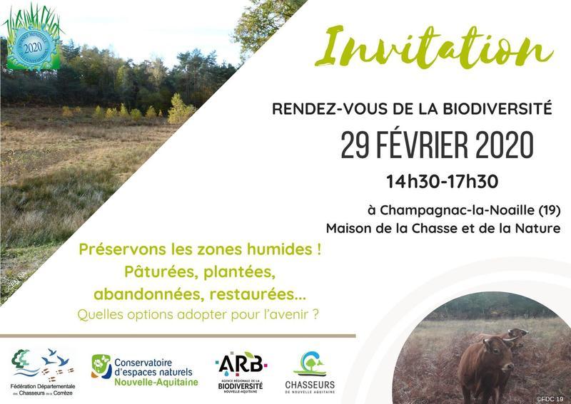 Rendez-vous de la biodiversité à Champagnac-la-Noaille @ Maison de la Chasse et de la Nature