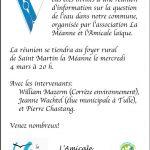 Réunion d'info sur l'EAU - St Martin la Méanne - ce 4 mars