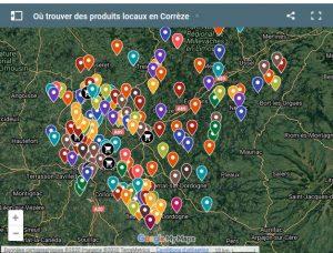 Carte des producteurs locaux