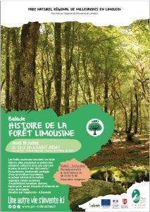 """Balade """"Histoire de la forêt limousine"""" le 16-07"""