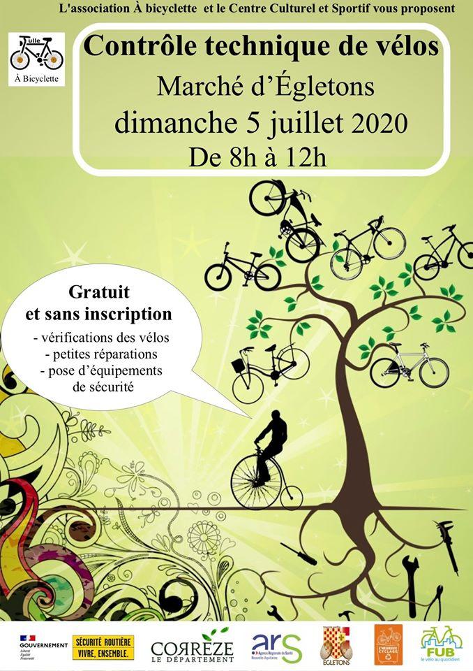 Contrôle technique de vos vélos au marché d'Egletons @ Marché d'Egletons