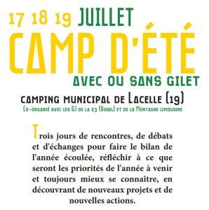 Camp d'été de la Montagne Limousine : 17 au 19 juillet à Lacelle (19)