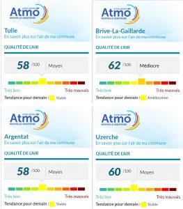 Qualité de l'air en Corrèze ... les indices en direct et ville par ville ...