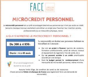 Micro-crédit personnel par la Fondation FACE Limousin