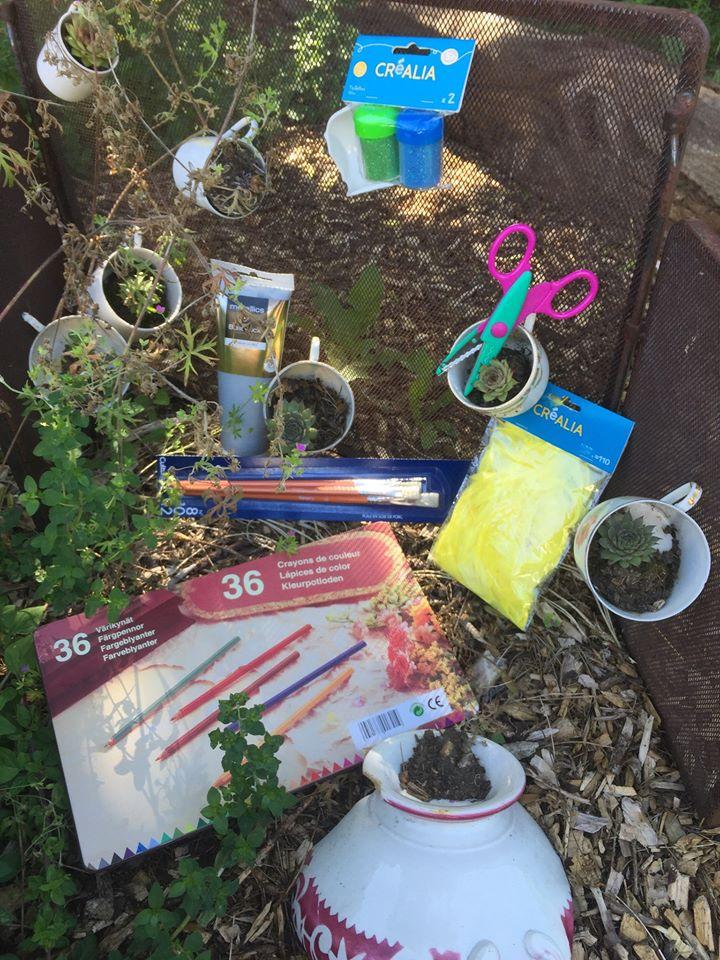 Atelier enfants : transformation en objets habituellement jetés @ A tout venant-Ressourcerie gaillarde