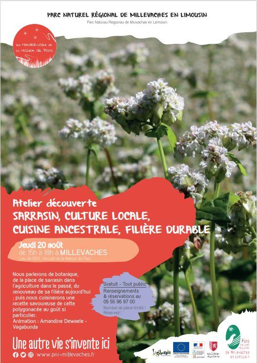 Atelier découverte : Sarrasin, culture locale, cuisine ancestrale, filière durable @ Accueil de la Maison du Parc