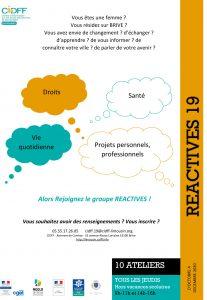"""""""Réactives"""" : groupes de femmes au CIDFF"""