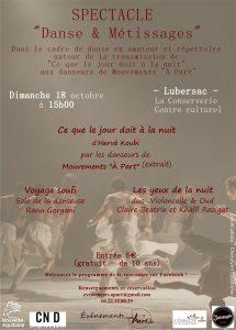 Danse et métissage culturel à Lubersac @ Lieu : Centre culturel du Pays de Lubersac Pompadour -