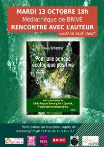 """Rencontre """"Pour une pensée écologique positive"""" à la médiathèque de Brive"""