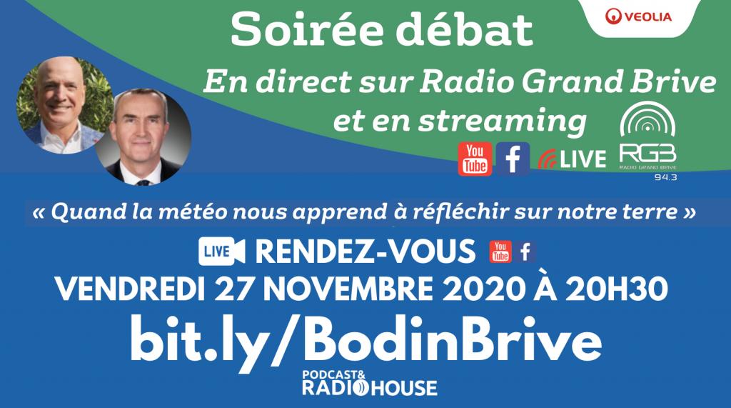 Soirée d'échanges avec Louis Bodin en direct de Brive et de la Podcast&Radio House @ En direct sur RGB et en Streaming
