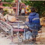 Scierie mobile associative : démo pour forestiers / autoconstructeurs curieux