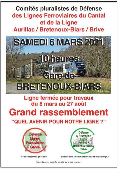 Rassemblement des Comités pluralistes de défense de la ligne Aurillac-Brive @ Gare de Bretenoux-Biars