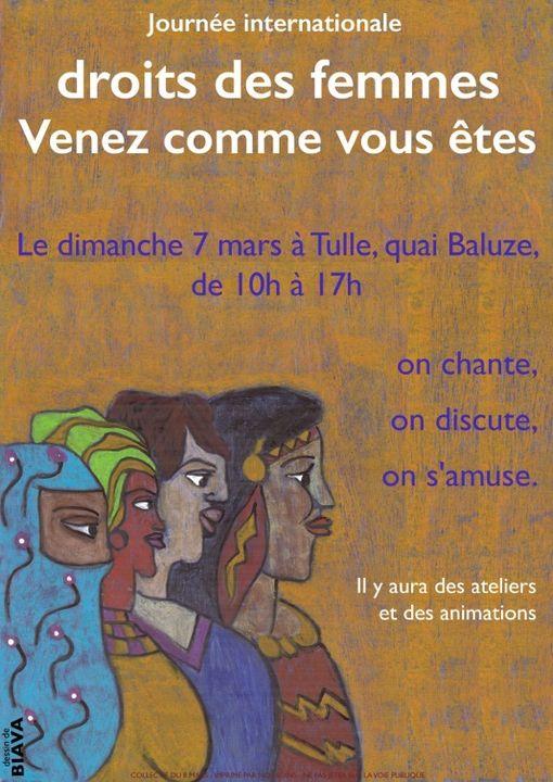 Journée internationale des droits des femmes @ Quai Baluze