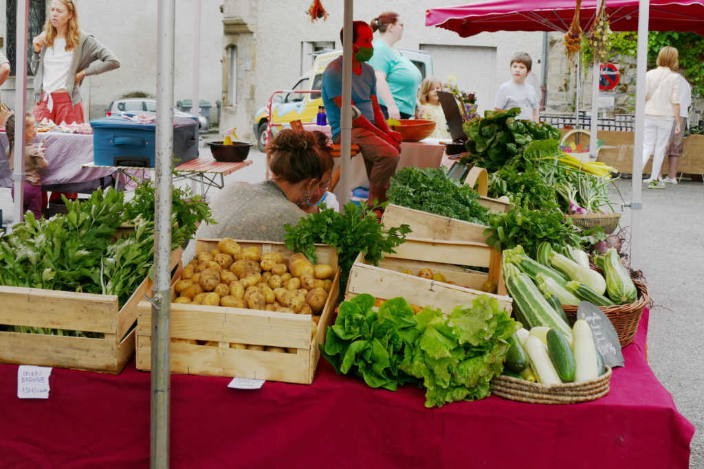 maraichage bio petit marché bio d'Argentat