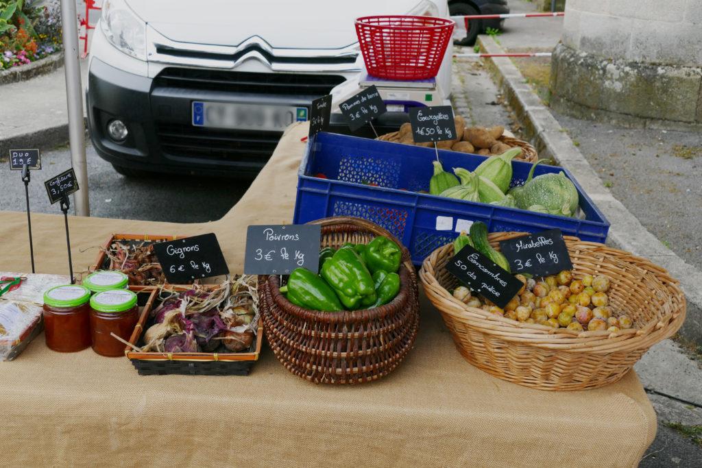 fruits légumes bio petit marché bio d'Argentat