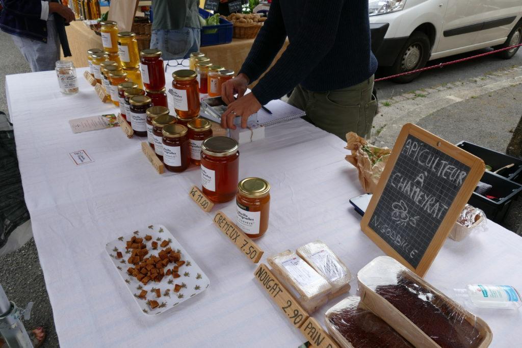 miel bio de Chameyrat  petit marché bio d'Argentat