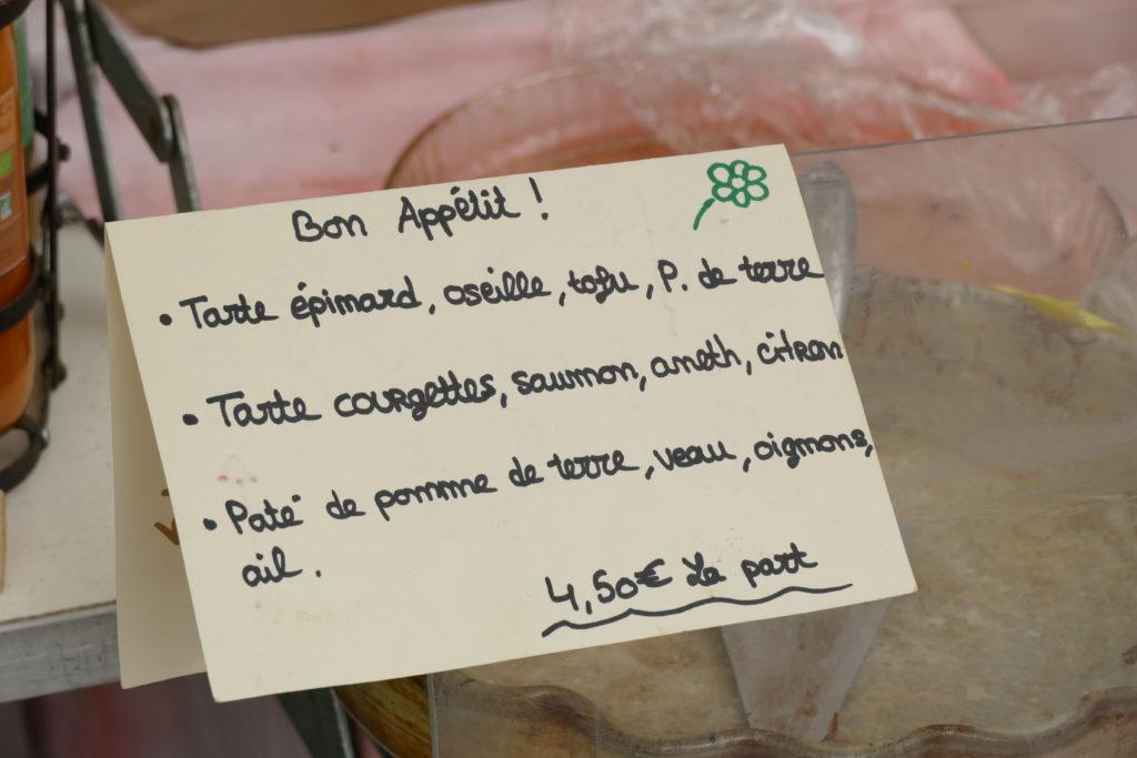 tartes bio artisanales petit marché bio d'Argentat