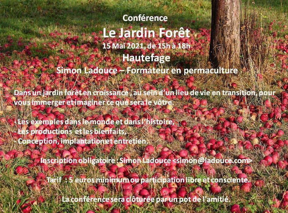 Conférence : Le Jardin forêt @ Hautefage