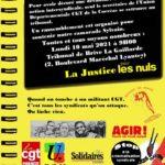 Rassemblement solidaire soutien à l'action syndicale